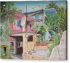 The Neighborhood Acrylic Print by Jim Barber Hove