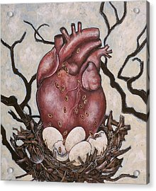 The Nest Of My Heart Acrylic Print