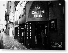 The New Cavern Club In Mathew Street In Liverpool City Centre Birthplace Of The Beatles Merseyside Acrylic Print by Joe Fox