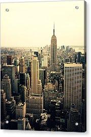 The New York City Skyline Acrylic Print by Vivienne Gucwa