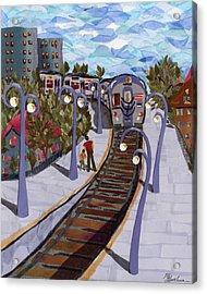 The Next Stop Is... Acrylic Print by Marina Gershman