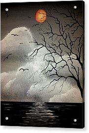 The Night Of The Blood Red Moon Acrylic Print by Edwin Alverio