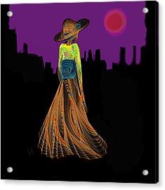 The Night With Kimono Acrylic Print by Hayrettin Karaerkek