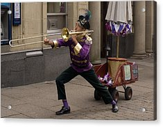 The None Man Band No 2 Acrylic Print by Peter Jenkins