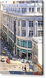 The Old Alfred Hitchcock Vertigo White House Department Store Now Banana Republic Department Store Acrylic Print by Wingsdomain Art and Photography