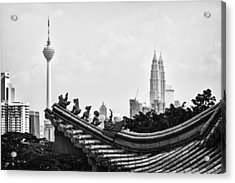 The Old And The New Acrylic Print by Zoe Ferrie