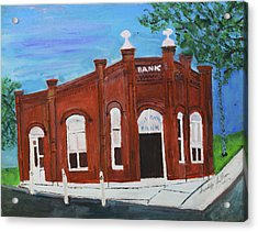 Acrylic Print featuring the painting The Old Bank by Swabby Soileau
