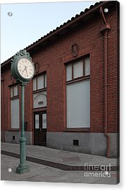 The Old Banker's Building - 5d18429 Acrylic Print by Wingsdomain Art and Photography
