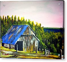 The Old Barn Acrylic Print by M Bhatt