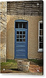 The Old Blue Door Acrylic Print by Mary Machare