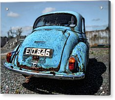 The Old Blue Morris Acrylic Print by Julie Williams