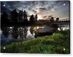 The Old Boat At Sunrise Acrylic Print