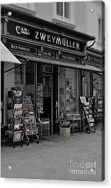 The Old Bookstore Acrylic Print by Mary Machare