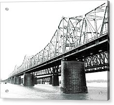 Acrylic Print featuring the photograph The Old Bridges At Memphis by Lizi Beard-Ward