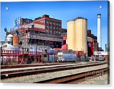 The Old C And H Pure Cane Sugar Plant In Crockett California . 5d16770 Acrylic Print by Wingsdomain Art and Photography