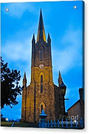 The Old Church At Donegal Town Acrylic Print by Black Sun Forge
