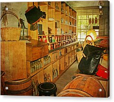The Old Country Store Acrylic Print by Kim Hojnacki
