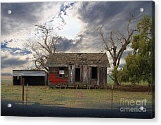 The Old Farm House In My Dreams Acrylic Print by Wingsdomain Art and Photography