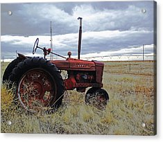 The Old Farmall Tractor 2 Acrylic Print by Robin Cox