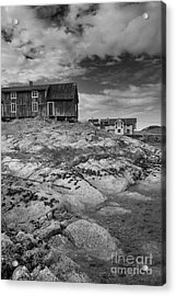 The Old Fisherman's Hut Bw Acrylic Print by Heiko Koehrer-Wagner