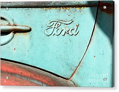 The Old Ford Jalopy . Nostalgia In Abstract . 7d12892 Acrylic Print by Wingsdomain Art and Photography