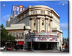Acrylic Print featuring the photograph The Old Grand Lake Theatre . Oakland California . 7d13474 by Wingsdomain Art and Photography