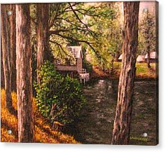 The Old Grist Mill Acrylic Print by Laurie Golden