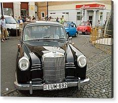 The Old Mercedes Acrylic Print by Odon Czintos