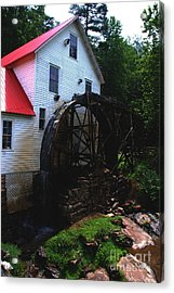 The Old Mill 1886 In Cherokee North Carolina - II  Acrylic Print by Susanne Van Hulst