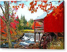 The Old Mill In Weston Vermont Acrylic Print by Earl Jackson