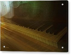 The Old Piano Acrylic Print by Donna Blackhall