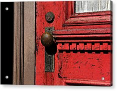 The Old Red Door Acrylic Print by David Lee Thompson