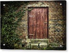 The Old Red Door Acrylic Print by Sari Sauls