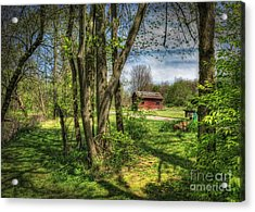 The Old River Shed Acrylic Print by Pamela Baker