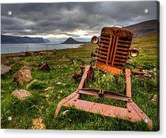 The Old Rust Tractor Acrylic Print by Arnar B Gudjonsson