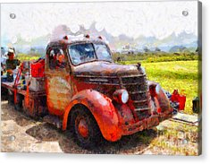 The Old Rusty Jalopy . 7d15500 Acrylic Print by Wingsdomain Art and Photography