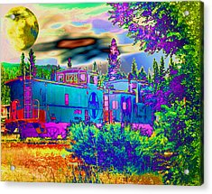 The Old Santa Fe Acrylic Print by Joyce Dickens
