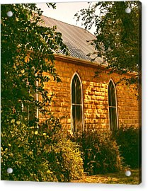 The Old Stone Church Acrylic Print by Lynne and Don Wright