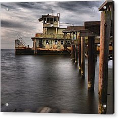The Old Tugboat Acrylic Print by Anthony Walker Sr