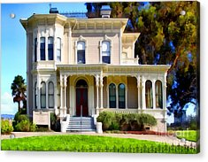 The Old Victorian Camron-stanford House In Oakland California . 7d13440 Acrylic Print by Wingsdomain Art and Photography