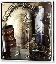 The Old World In The Cupboard. Acrylic Print