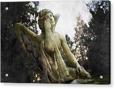 The One Angel Acrylic Print by Marc Huebner