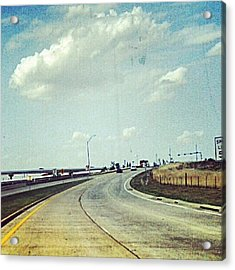 The Open Road #notraffic #random #hdr Acrylic Print by Kel Hill