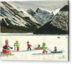 The Optimists Acrylic Print by Tim Koziol