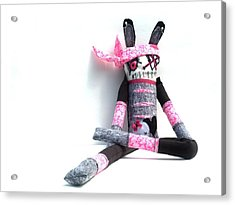 The Original Gangsta Zombie Jenni Rump-thumpin Jamma Acrylic Print by Oddball Art Co by Lizzy Love