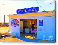 The Oyster Shack At Drakes Bay Oyster Company In Point Reyes . 7d9832 . Painterly Acrylic Print by Wingsdomain Art and Photography