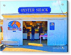 The Oyster Shack At Drakes Bay Oyster Company In Point Reyes . 7d9835 . Painterly Acrylic Print by Wingsdomain Art and Photography