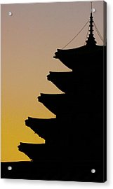The Pagoda At Gyeongbukgong In Seoul Acrylic Print by Photography by Simon Bond