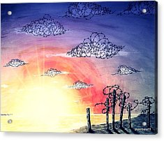 The Pain Of Sky That Will Never Be Calm Acrylic Print by Paulo Zerbato