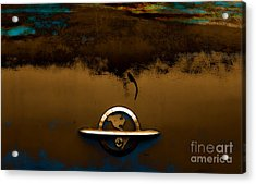 The Paint Of Corrosion  Acrylic Print by Steven  Digman